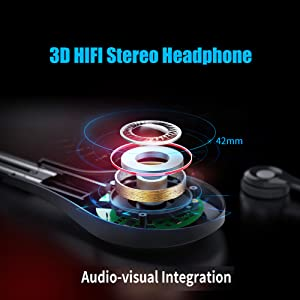 SHINECON VR Headset 3D HIFI Stereo Headphone