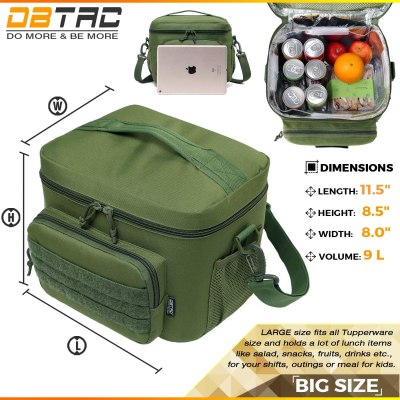 DBTAC Tactical Lunch Bag Large Insulated Lunch Box