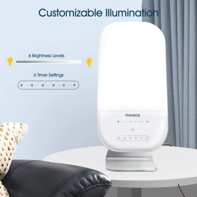 light therapy lamp miroco led bright white therapy light