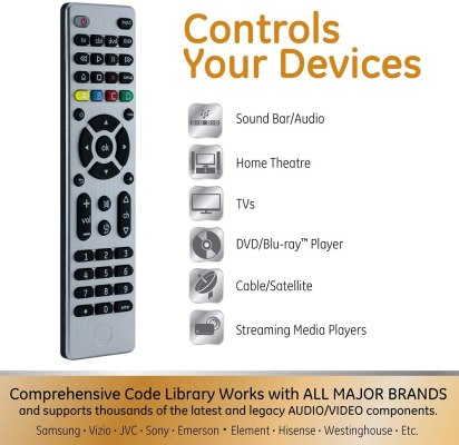 GE Universal Remote Control for sony
