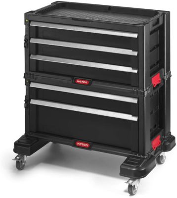Keter Rolling Tool Chest with Storage Drawers and locking systems