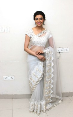 kajal-agarwal-hot-stills-in-white-saree-3