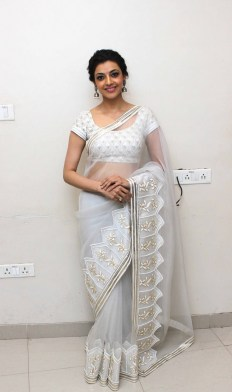 kajal-agarwal-hot-stills-in-white-saree-5