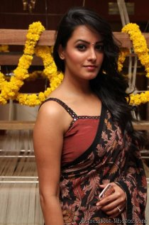 anita-hassan-andani-hot-saree-stills-at-an-ode-to-weaves-weavers-fashion-show-8