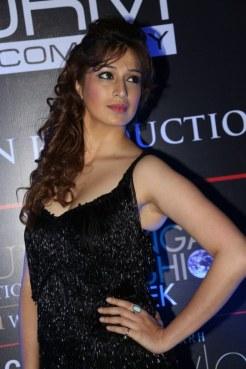 Actress Lakshmi Rai in Black Dress Hot Stills