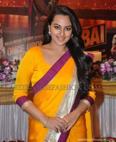 Sonakshi_Sinha_Orange_Sari_Blouse1