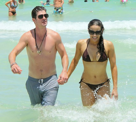 Robin Thicke and Paula Patton were spotted spending the afternoon on Miami Beach, FL. Pictured: Paula Patton and Robin Thicke Ref: SPL296663 100711 Picture by: Jeff Binion / Splash News Splash News and Pictures Los Angeles: 310-821-2666 New York: 212-619-2666 London: 870-934-2666 photodesk@splashnews.com
