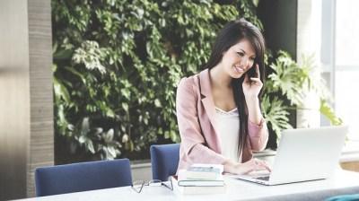 女性、電話、仕事