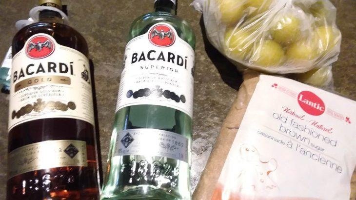 カナダ産梅で作る梅酒のレシピ【冷凍梅、黒糖、ラム使用】