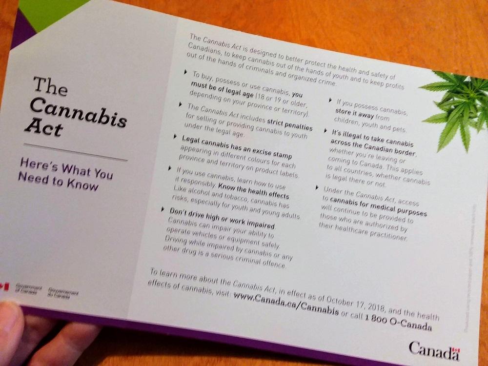 カナダ大麻合法化の通知