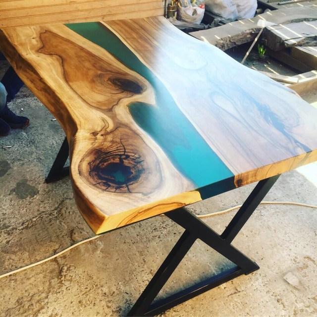 Кавовий стіл з епоксидної смоли