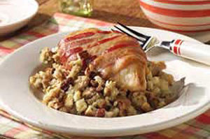 Festive Chicken Stuffing Bake