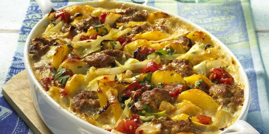 Beef Potato Cabbage Casserole