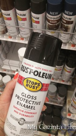One can of gloss spray paint - I always love Rust-Oleum
