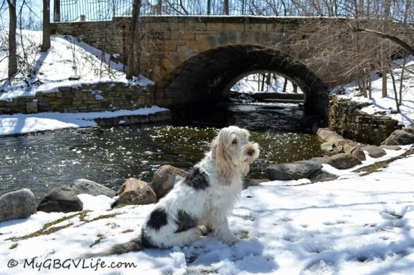 Pretty stone arch bridge over Minnehaha Creek