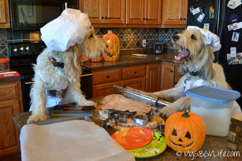 My GBGV Life Bailie mouths off at Emma baking Halloween cookies