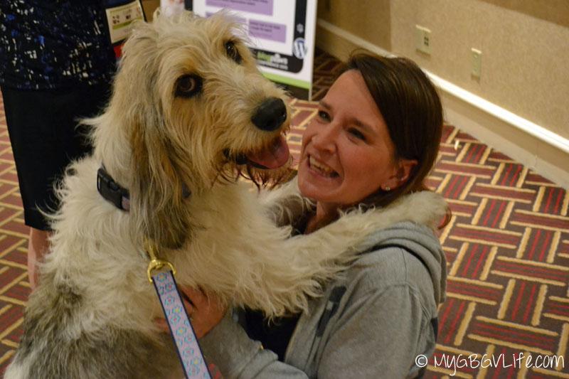 My GBGV Life PR Dog Bailie with jen at blogpaws 2015 in nashville