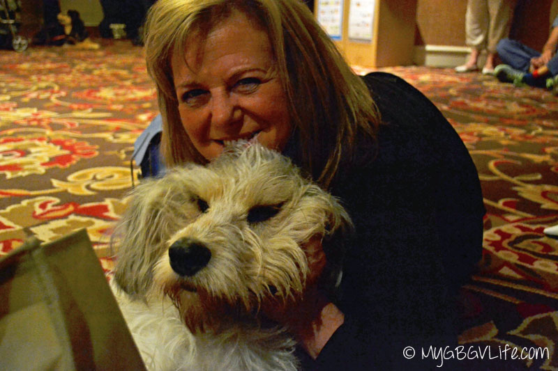My GBGV Life PR Dog Bailie with Vivian at Blogpaws 2015 in Nashville