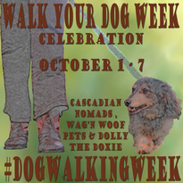 walk dog week badge