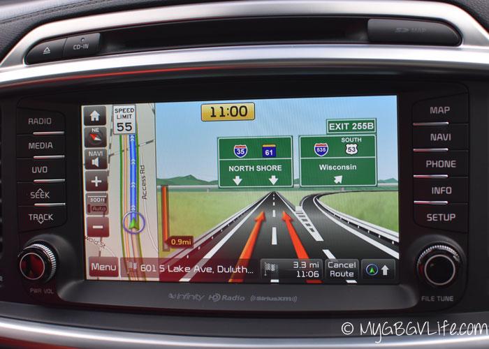 My GBGV Life Kia Sorento Navigation Screen