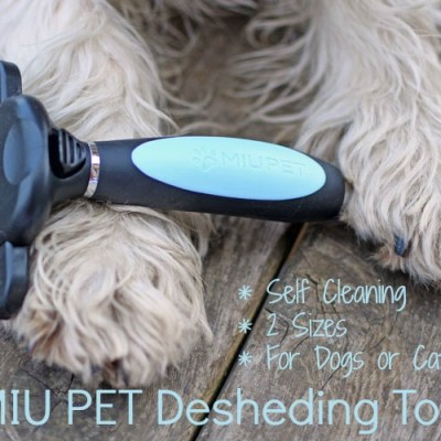 MIU PET Deshedding Tool For Dogs And Cats