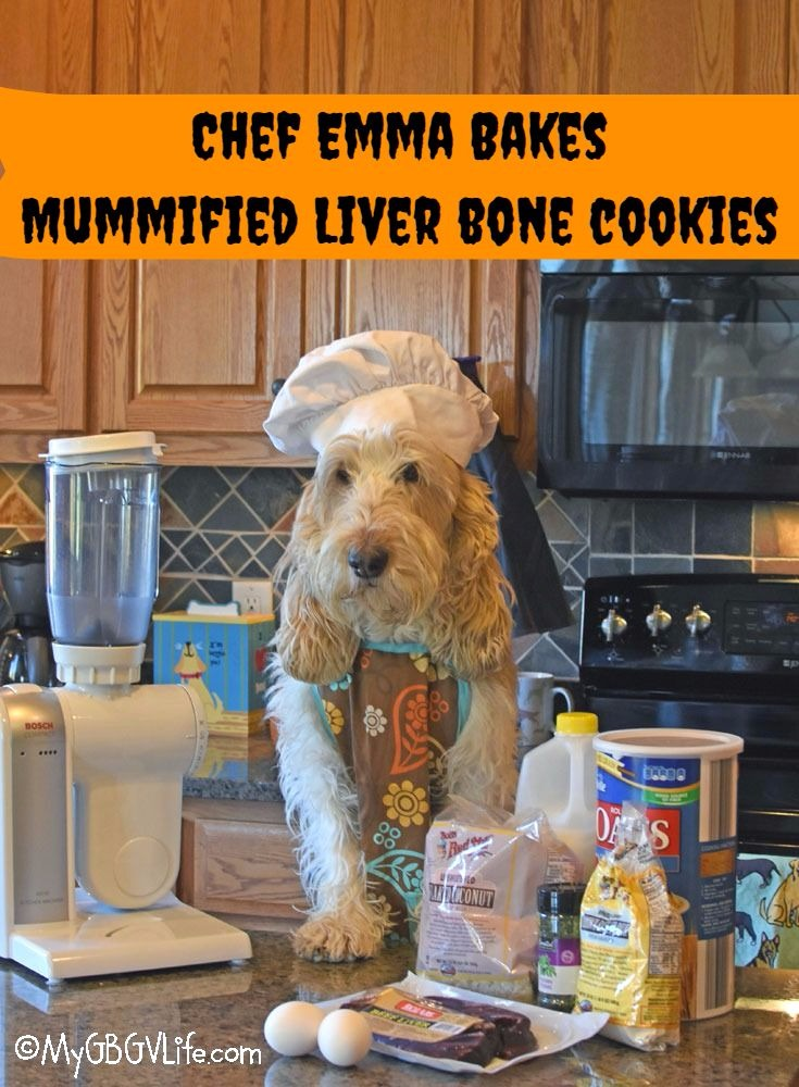 My GBGV Life Chef Emma Bakes Mummified Liver Bone Cookies