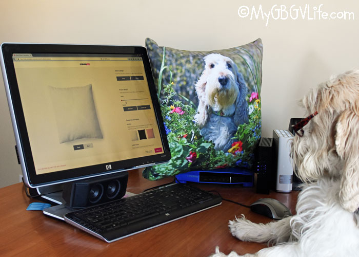 My GBGV Life Turn Your Favorite Dog Photo Into An Adorable Photo Pillow
