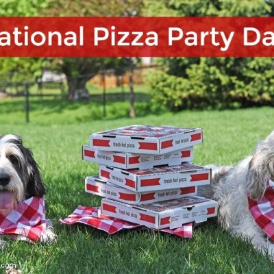 We're Celebrating National Pizza Party Day! Yum!