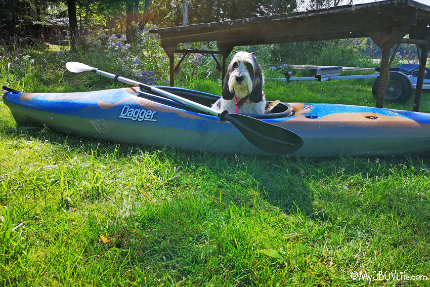 My GBGV Life Madison in kayak