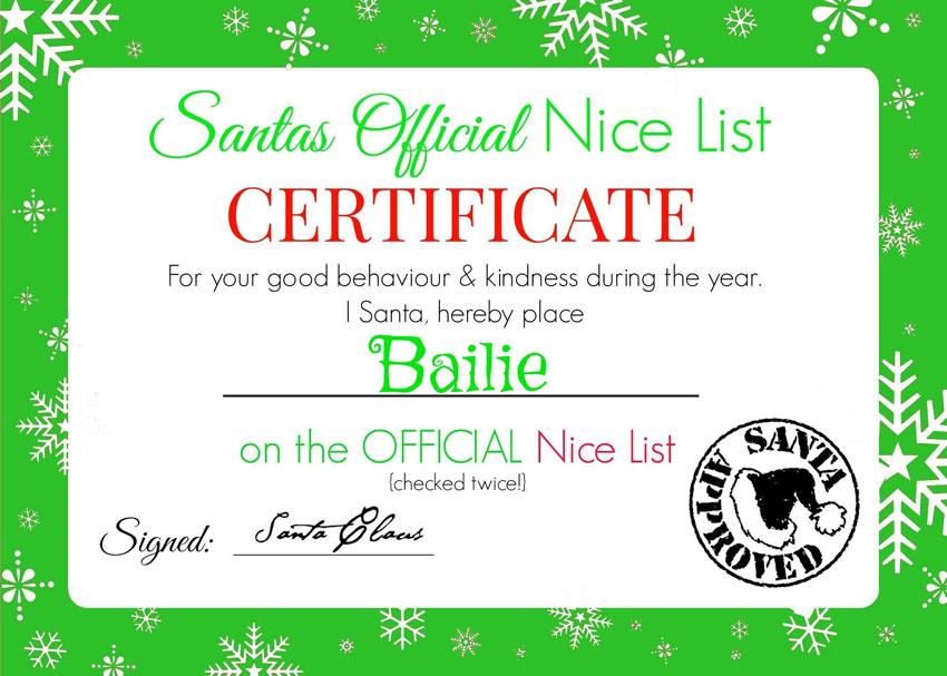 My GBGV Life Bailie nice list