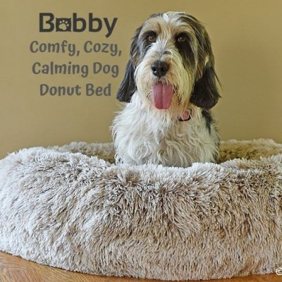My GBGV Life Comfy, Cozy, Calming Dog Donut Bed