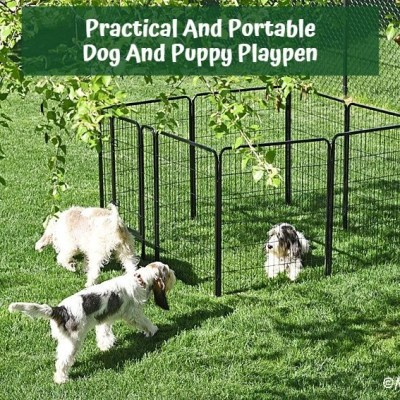 Practical And Portable Dog And Puppy Playpen