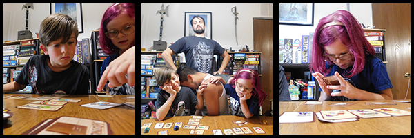 3 Panel image with Geeklings losing the game