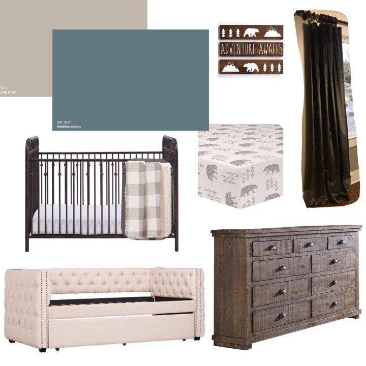 Boy Nursery Mood Board