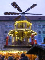 I'm honestly not sure what these giant windmill-y things are, but all the Christmas markets have them in a vaguely central location. This one is at the Residenz