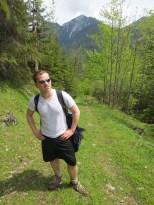 Eric climbs a mountain