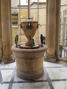 A fountain of spring water in the Pump Room