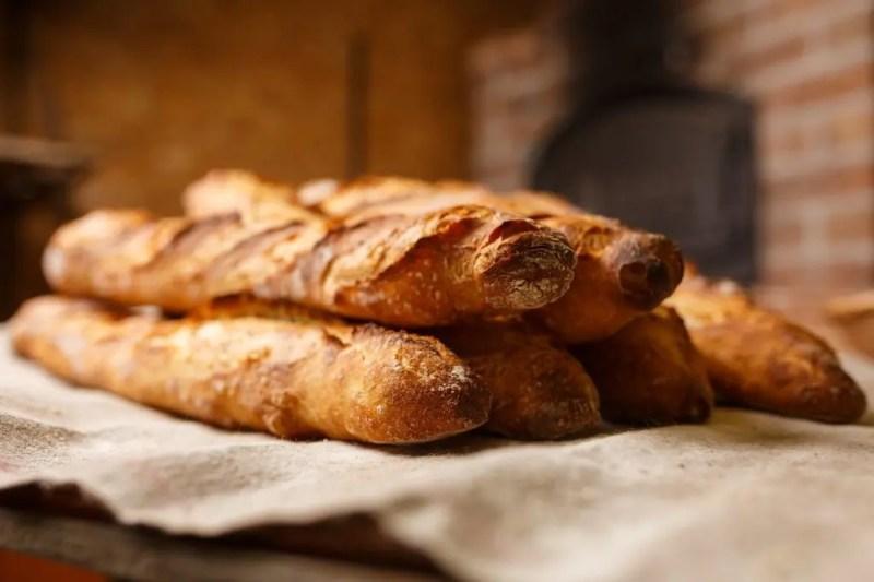 Freshly-baked baguettes