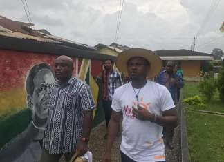 PHOTOS: The Tourism Minister, Abeiku Santana and other entourage tour Western Region