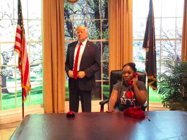 PHOTOS: Actress, Moesha Boduong working at the White House?