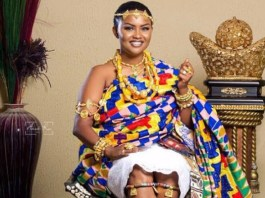 Nana Ama McBrown stuns colourful Kente cloth to mark Birthday