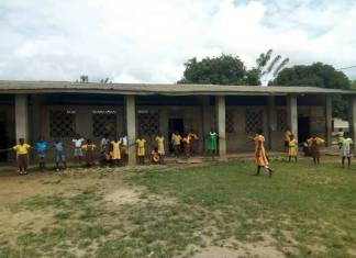 PHOTOS: The Sangy Foundation renovates dilapidated School in V-Gbodome, Hohoe