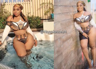 PHOTOS: Actress Moesha Boduong shows half of her thing*