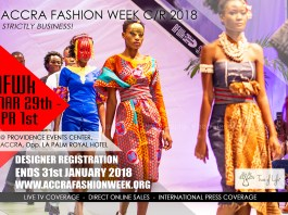 Accra Fashion Week CR18 Scheduled For March 29th - April 1st