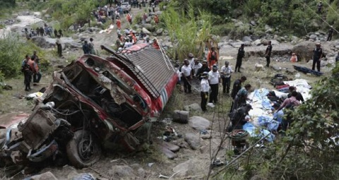 At least 38 die in Ethiopia when bus plunges into ravine