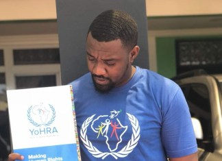 John Dumelo gets appointment as Human Rghts Ambassador