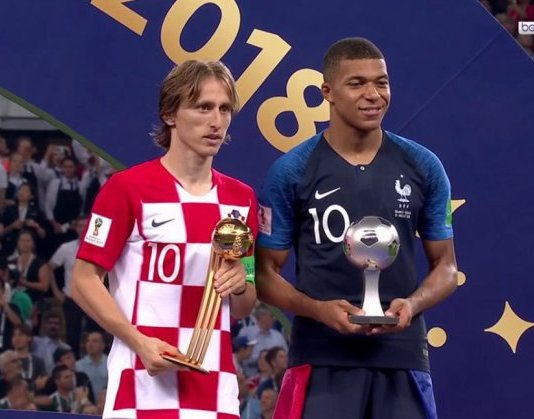 Modric wins Golden Ball award, Mbappe Young player award