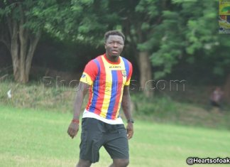 Muntari makes appearance in Hearts friendly win over Bechem