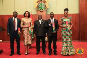 Akufo-Addo swears-in EC Chair Jean-Mensa and others