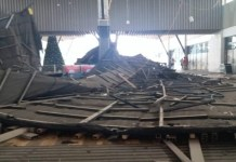 Roof of Kumasi city mall caves in